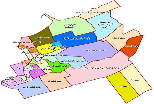 مدينة الخبر خريطة احياء الخبر Sahara Blog S